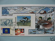 COLLINS HAND PAINTED FDC 1991 IDAHO MILFORD DUCK