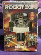 Vintage 1986 Robotech Matchbox Miniature Alpha Fighter w/ original box