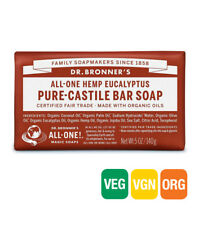 10 X 140g Dr Bronners Magic Soaps Pure Castile Bar Soap - Hemp Eucalyptus