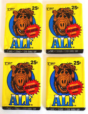 4 X Topps Alf Series 1 Trading Cards Stickers Bubble Gum Packets 1987