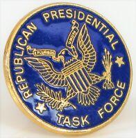 VTG POLITICAL MEN'S LAPEL PIN TIE TACK REPUBLICAN PRESIDENTIAL TASK FORCE TRUMP