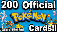 Lot of 200 Official Pokemon Cards! Ultra Rare Card Guaranteed! Reduced Price**