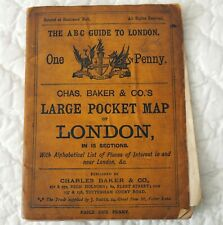 Chas. Baker & Co.'s Large Pocket Map of London 1889