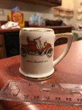 "1902 Autocar Runabout Ceramic Mini 2.25"" Stein Shotglass Gold Rim FREE SHIPPING"