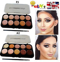 Ultra Big 10 Colors Concealer Palette Contouring Highlighting Cream Contour Kit