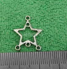 50pcs  tibetan silver five stars charms Connectors Earring Findings 18mm