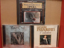 3 CLASSICAL CD Lot Time Out Classics Vol 2 PAVAROTTI The Worlds Greatest Opera