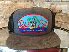 Rebel Eight Permanent Vacation Mesh Snap Back Hat Grey And Black Hat - New!!!