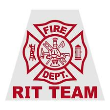 RIT Team Tetra Firefighter Emergency Helmet Reflective Decal Sticker
