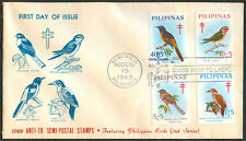 1969 ANTI-TB SEMI-POSTAL STAMPS Featuring PHILIPPINE BIRDS First Day Cover - B