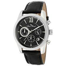 Lucien Piccard MULHACEN Men's Quartz Watch with Black Leather Strap 12356-01