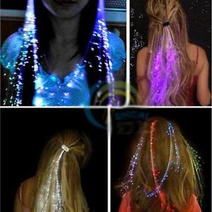 Led Light Up Hairpin Braid Luminous Fiber Optic Flashing Hair Rave Party Decor
