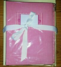 Baby Book Girls Scrapbook Memory Pottery Barn Pink Gingham Photo Picture Albums