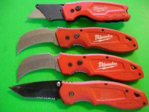 "NTSA LOT OF 4 ASSORTED  ""MILWAUKEE"" LOCK BLADES POCKET KNIVES"