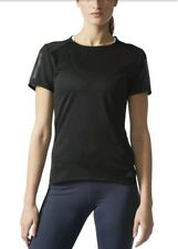 Adidas Women's Running Shirt T-Shirt Response SS Tee w Black Size Medium RRP £38