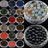 Wholesale Mixed Natural Stone Gemstone Round Spacer Loose Beads 4mm 6mm 8mm 10mm
