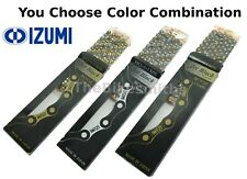 "Izumi Chain JET BLACK Easy Running 1/8"" BMX Track Fixed Bike Gold Silver Black"
