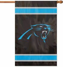 """New listing Carolina Panthers Flag House Banner 28"""" x 44"""" Party Animal Nfl"""