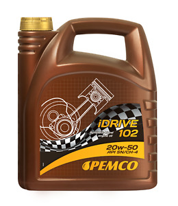 Aceite de motor 20w50 Lubricante para coches API SN/CH-4 Pemco 5L