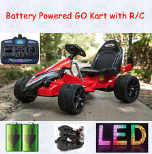 Kids Electric Toy Ride On Racing Go Kart 2x Motor Battery Powered + RC Bike Car
