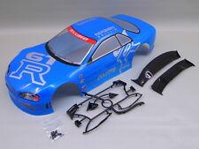 "RC CAR KAROSSERIE 1:10 ""NISSAN SKYLINE R34 GTR"" BLAUMETALLIC # HX020B"