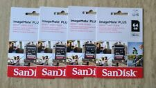 Lot Of 4 NEW SEALED OEM SanDisk 64GB ImageMate Plus SDXC UHS-I Card Class 10