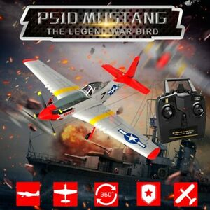 P51D 4CH 6-Axies RTF Brushless RC Airplane Gyro & Rear Pusher RC Plane Glider 💯