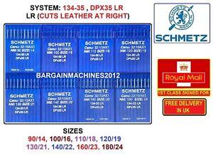 SCHMETZ DPX35 134-35LR 8SIZE: (90/14-180/24) INDUSTRIAL SEWING MACHINE NEEDLES