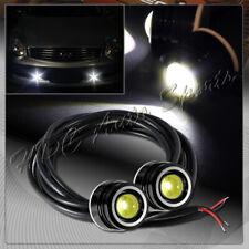 2 x 25mm 6w 12v White LED Eagle Eye DRL Daytime Running Lights Lamp Universal 5