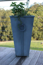 Zinc Planter Pot Tall Garden Courtyard Patio Entrance Porch Balcony Feature