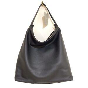 Everlane The Boss hobo Bag Pebbled Black shoulder bag tote Large slouch leather