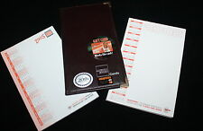 Vtg Hooters Girl Uniform America Express Ticket Book 02 05 Calendar Note Pads