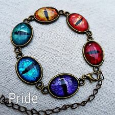 Hand painted Dragon Eye Bracelet - Art piece, unusual, one-of-a-kind