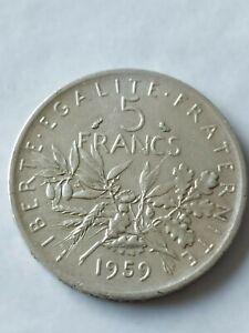 ESSAI 5 FRANCS SEMEUSE 1959 ARGENT petit 5