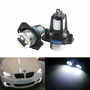 Ampoule LED BMW Série 3 E90 E91 Angel Eyes 12W Blanc Xenon Phare Lampe 2004-2008