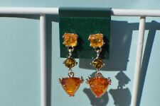 Baltic Amber Earrings Fine 925 Sterling Silver ~ Nice 3 Color Dangle