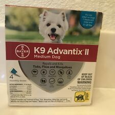 Bayer K9 Advantix II Flea And Tick Control Treatment Medium Dogs 11-20 lb 4 pack