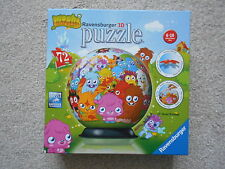 MOSHI MONSTERS 72 piece junior puzzleball jigsaw puzzle RAVENSBURGER 3D ball