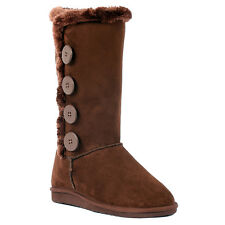 Forever Link Women's Anissa-3 Round-Toe Mid-Calf Warm Flat Booties Snow Boots