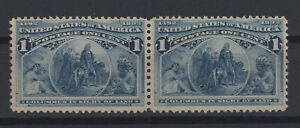 G136967/ UNITED STATES - COLUMBUS / Y&T # 81 (PAIR) MNH CV 146 $