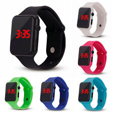 NEW Silicone LED Kid Boy Girl Sport Watch Touch Digital Bracelet Wrist Watches