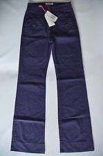 SEE BY CHLOE STRETCHY PURPLE COTTON BLEND BOOTCUT CHINO PANTS - W26 / L34 / UK 6