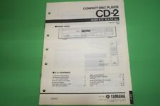 Originale Service Anleitung und Schaltplan Yamaha CD-2 CD-Spieler!!