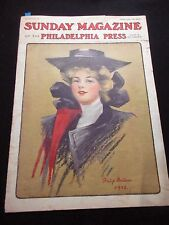 1906 SUNDAY MAGAZINE PHILADEPHIA PHILIP BOILEAU CONAN DOYLE SHERLOCK HOLMES ART