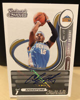 2007-08 Topps Trademark Moves CARMELO ANTHONY Auto Swish Serial Numbered /75 PSA