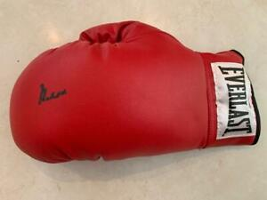 Muhammad Ali Signed Leather Boxing Glove in Black PSA ITP 5A42528