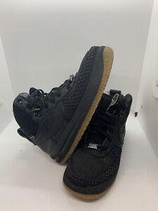Nike Lunar Force 1 Duckboot Sneaker Boots Black Boys' (Size: 5Y ) 882842-001