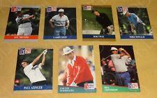 PGA Tour 1991 1992 Pro Set Prototype Lot de 7 Donald Azinger Mize Tway Trevino