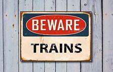 Beware of Trains, Metal Sign, Beware Sign, Beware Signage, Beware Signs, 376