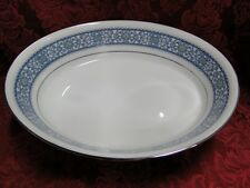 Noritake LaRue, 6913, Blue Scroll Band: Oval Vegetable Bowl, 9.75""